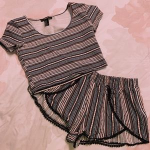 Forever 21 top and short set
